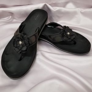 Coach Black Jillian Sandals VGUC (10M)